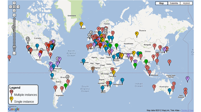 DNS Root Servers Map