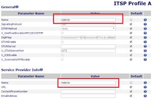 OBi 110 ITSP Profile Settings